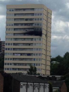 high rise fire Southfields london